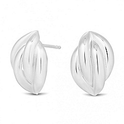 Simply Silver - Sterling silver polished curve stud earring