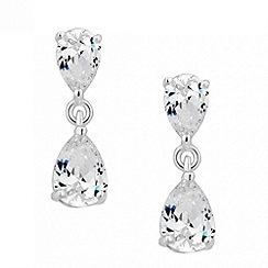 Simply Silver - Sterling silver cubic zirconia peardrop earring