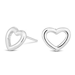 Simply Silver - Sterling silver heart stud earring