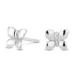 Simply Silver - Sterling silver butterfly stud earring