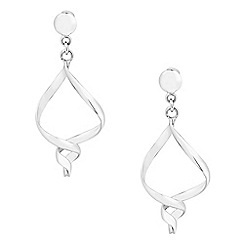 Simply Silver - Sterling silver polished twist drop earring