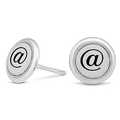 Simply Silver - Online exclusive sterling silver surround '@' stud earring