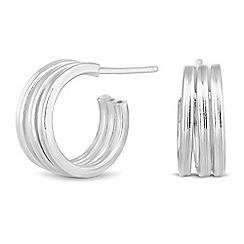 Simply Silver - Sterling silver triple half hoop earring