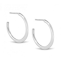 Simply Silver - Sterling silver polished hoop earring