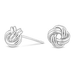Simply Silver - Sterling silver polished knot stud earring