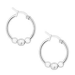 Simply Silver - Sterling silver triple ball hoop earring