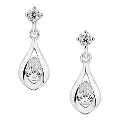 Simply Silver - Sterling silver cubic zirconia teardrop earring