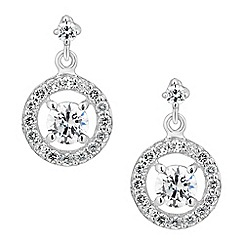 Simply Silver - Sterling silver cubic zirconia 'Clara' drop earring