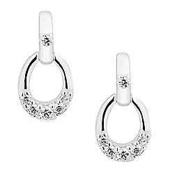 Simply Silver - Sterling silver cubic zirconia set door knocker earring