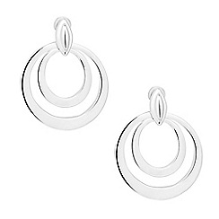Simply Silver - Sterling silver double circular drop earring