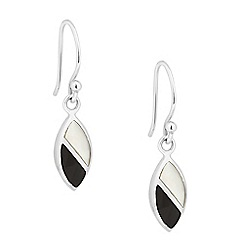 Simply Silver - Sterling silver mother of pearl leaf drop earring
