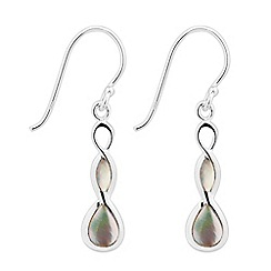 Simply Silver - Sterling silver mother of pearl twist drop earring