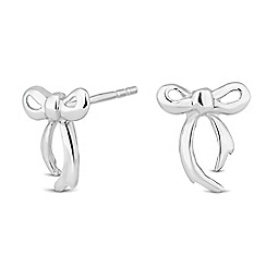 Simply Silver - Sterling silver polished bow stud earring