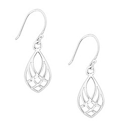 Simply Silver - Sterling silver lattice teardrop earring