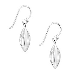 Simply Silver - Sterling silver polished twirl drop earring