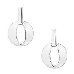 Simply Silver - Sterling silver open disc drop earring