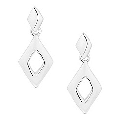 Simply Silver - Sterling silver polished geometric drop earring