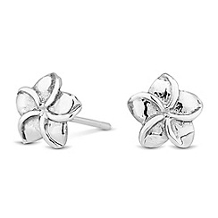 Simply Silver - Sterling silver polished flower stud earring