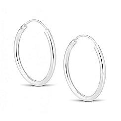 Simply Silver - Sterling silver fine oval hoop earring