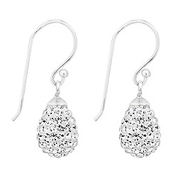 Simply Silver - Sterling silver crystal embellished teardrop earring