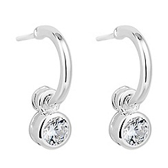 Simply Silver - Sterling silver blue charm drop earring