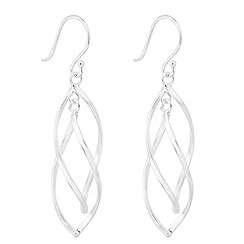 Simply Silver - Sterling silver interlinked drop earring