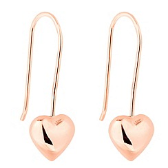 Simply Silver - Rose gold plated sterling silver heart stick earring