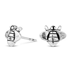 Simply Silver - Sterling silver bee stud earring