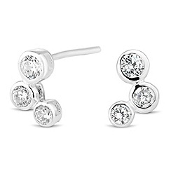 Simply Silver - Sterling silver cubic zirconia bubble stud earring