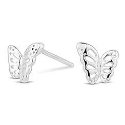 Simply Silver - Sterling silver butterfly stud earring