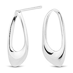 Simply Silver - Sterling silver polished organic drop earring