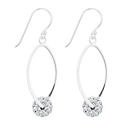 Simply Silver - Sterling silver cubic zirconia ball twist drop earring
