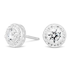 Simply Silver - Sterling silver mini clara cubic zirconia stud earring
