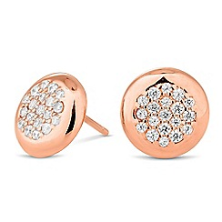 Simply Silver - Rose gold micro pave studs earring