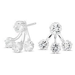 Simply Silver - Sterling silver cubic zirconia ear lobe earring