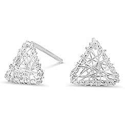 Simply Silver - Sterling silver triangle wire wrap earring