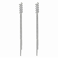 Simply Silver - Stering silver chain tassle earring