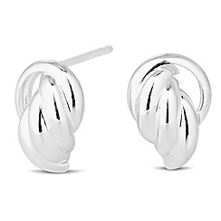 Simply Silver - Sterling silver polished door knocker earring