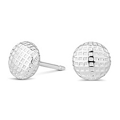 Simply Silver - Sterling silver round textured stud earring