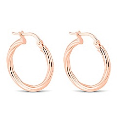 Simply Silver - Rose gold plated sterling silver hoop earring