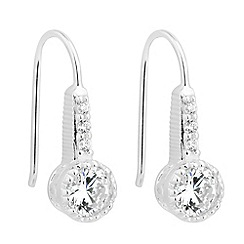 Simply Silver - Sterling silver cubic zirconia round drop earring