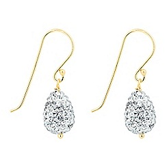 Simply Silver - Gold plated sterling silver crystal teardrop earring