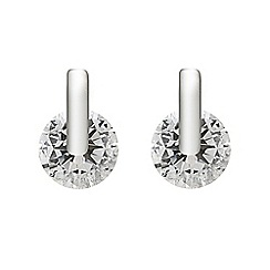 Simply Silver - Sterling silver cubic zirconia contemporary earring
