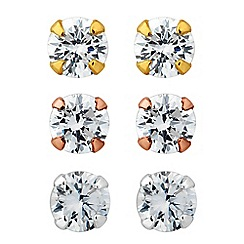 Simply Silver - Sterling silver cubic zirconia earring trio