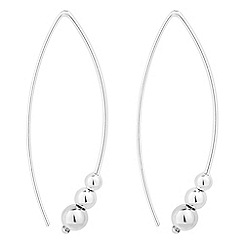 Simply Silver - Sterling silver signature graduated bead half hoop earring