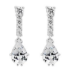 Simply Silver - Sterling silver cubic zirconia peardrop drop earring