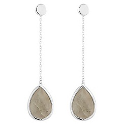 Simply Silver - Sterling silver labradorite drop earring