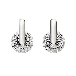 Simply Silver - Sterling silver cubic zirconia clamp stud earring