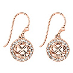Simply Silver - Rose gold plated sterling silver filigree earring