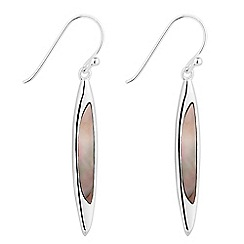 Simply Silver - Sterling silver mother of pearl spear drop earring